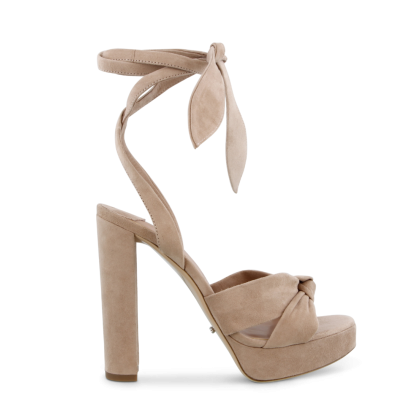 Lomax Blush Kid Suede Heels by Tony Bianco Shoes