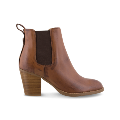 London Tan Albany Ankle Boots by Tony Bianco Shoes