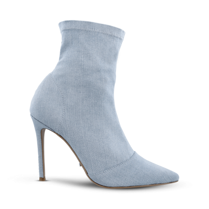 Lottie Blue Wash Denim Ankle Boots by Tony Bianco Shoes