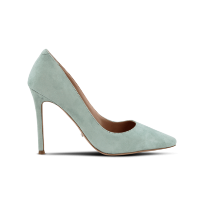 Lotus Mint Kid Suede Heels by Tony Bianco Shoes