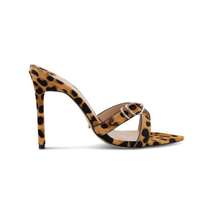 Mikki Tan Leopard Heels by Tony Bianco Shoes
