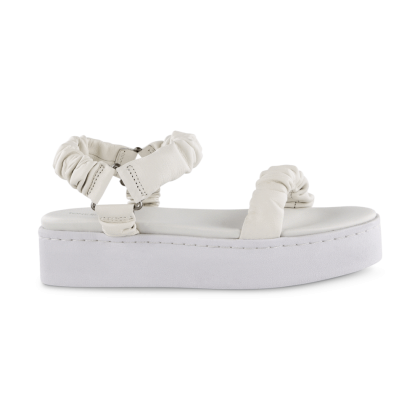 Pearle White Sheep Nappa Sandals by Tony Bianco Shoes