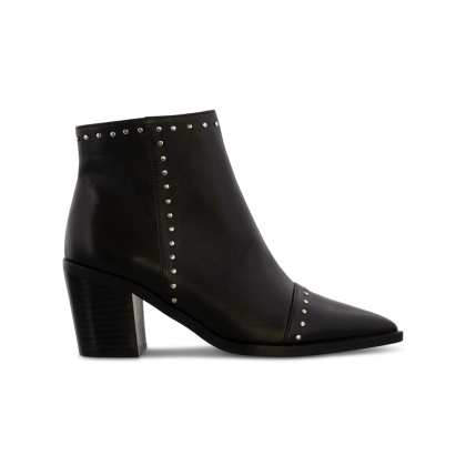 Sandre Black Luxe Ankle Boots by Tony Bianco Shoes