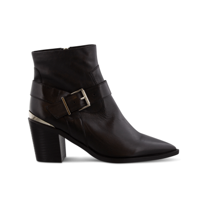 Sanya Black Como Ankle Boots by Tony Bianco Shoes