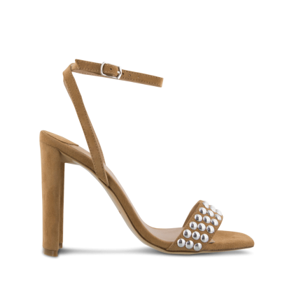Sebastian Caramel Kid Suede Heels by Tony Bianco Shoes