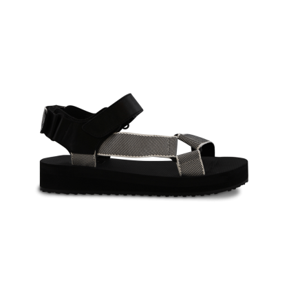 Sia Black/White Sandals by Tony Bianco Shoes