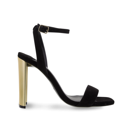 Star Black Kid Suede Heels by Tony Bianco Shoes