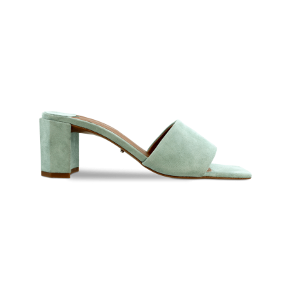Storm Mint Kid Suede Heels by Tony Bianco Shoes