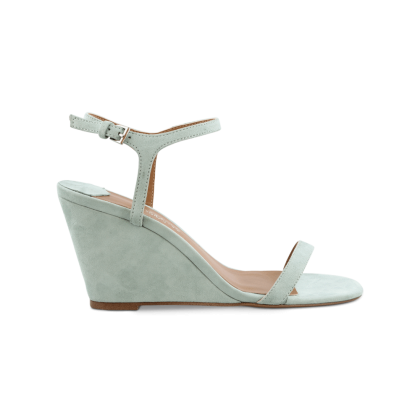 Tanita Mint Kid Suede Wedges by Tony Bianco Shoes