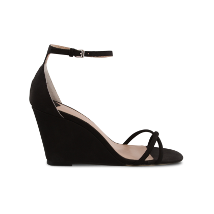 Tazia Black Phoenix Wedges by Tony Bianco Shoes