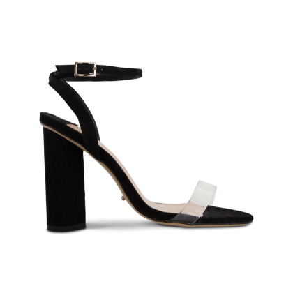 Tommi Black Phoenix/Clear Vynalite Heels by Tony Bianco Shoes
