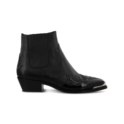 Whistler Black Luxe/Black Patent Ankle Boots by Tony Bianco Shoes