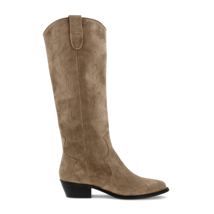 Wilde Natural Suede Long Boots by Tony Bianco Shoes