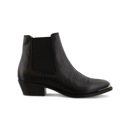 Winona Black Como Ankle Boots by Tony Bianco Shoes