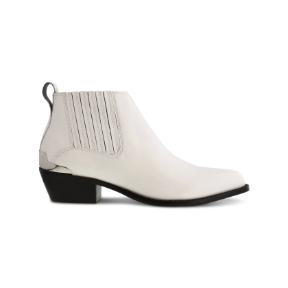 Wynston White Capretto Ankle Boots by Tony Bianco Shoes