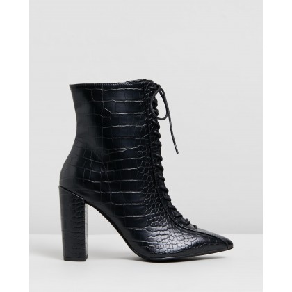 Paisley Boots Black Croc by Therapy