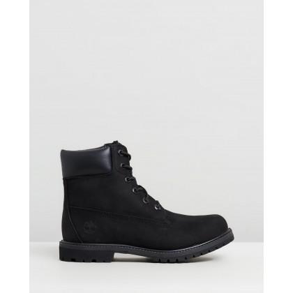 "6"" Premium Boots - Women's Black Nubuck by Timberland"