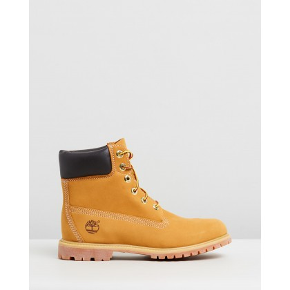 "6"" Premium Boots - Women's Wheat Nubuck by Timberland"