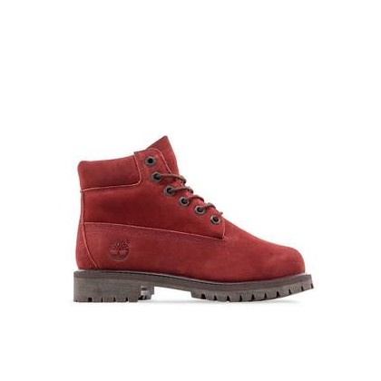 Dark Red Nubuck - Kids 6-Inch Premium Waterproof Boot Https://Www.Timberland.Com.Au/Shop/Sale/Kids/Footwear Shoes by Timberland