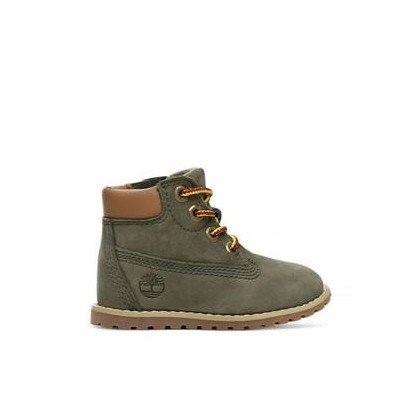 Dark Green Nubuck - Kids Toddler Pokey Pine 6-Inch Boot Https://Www.Timberland.Com.Au/Shop/Sale/Kids/Footwear Shoes by Timberland
