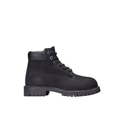 Black Nubuck - Kids Youth 6-Inch Premium Boot Https://Www.Timberland.Com.Au/Shop/Sale/Kids/Footwear Shoes by Timberland