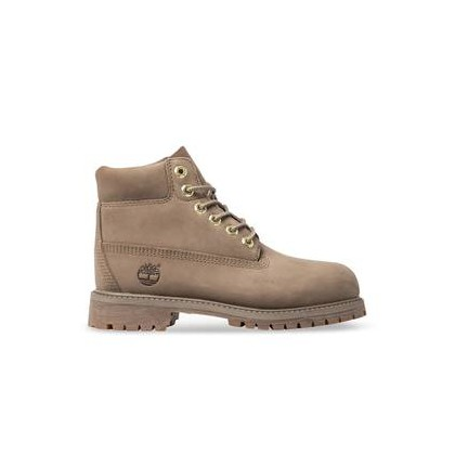 Dark Beige Nubuck - Kids Youth 6-Inch Premium Waterproof Boot Shop By Age Shoes by Timberland