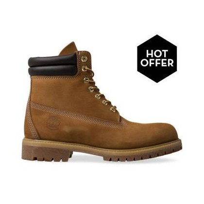 Wheat Nubuck - Men's 6-Inch Double Collar Boot Mens Shoes by Timberland