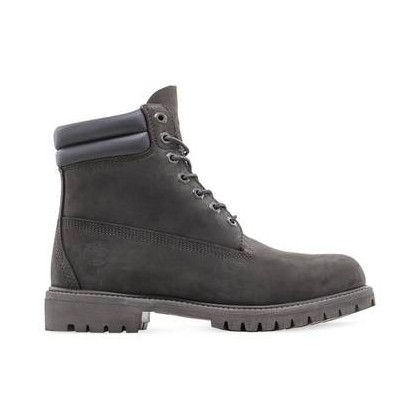 Dark Grey Nubuck - Men's 6-Inch Double Collar Boot Mens Shoes by Timberland