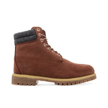 Rust Nubuck - Men's 6-Inch Double Collar Boot Mens Shoes by Timberland