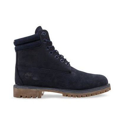 Dark Blue Nubuck - Men's 6-Inch Double Collar Boot 6 Inch Boots Shoes by Timberland