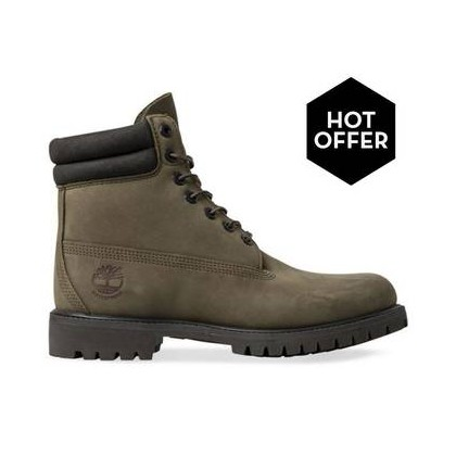 OIive Nubuck - Men's 6-Inch Double Collar Boot Mens Shoes by Timberland