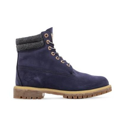 Navy Nubuck - Men's 6-Inch Double Collar Boot Mens Shoes by Timberland
