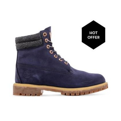 Navy Nubuck - Men's 6-Inch Double Collar Boot Https://Www.Timberland.Com.Au/Shop/Sale/Mens/Boots Shoes by Timberland