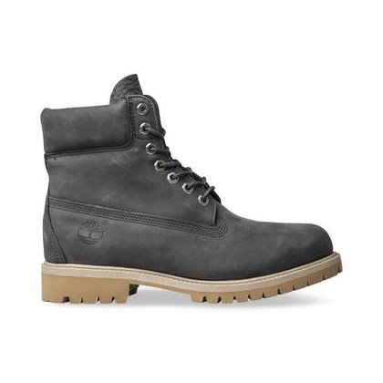 Dark Grey Nubuck - Men's 6-Inch Premium Waterproof Boot 6 Inch Boots Shoes by Timberland