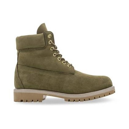 Olive Nubuck - Men's 6-Inch Premium Waterproof Boot 6 Inch Boots Shoes by Timberland