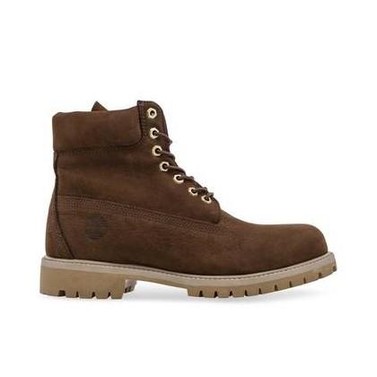 Dark Brown Nubuck - Men's 6-Inch Premium Waterproof Boot 6 Inch Boots Shoes by Timberland