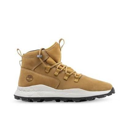 Wheat Nubuck - Men's Brooklyn Alpine Sneakers Footwear Shoes by Timberland