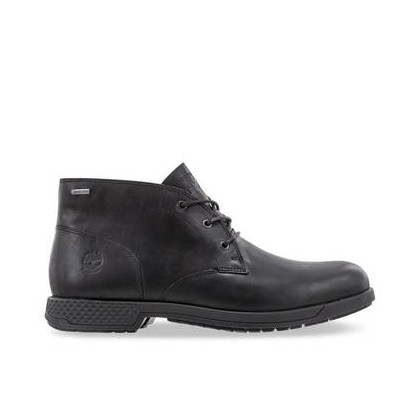 Black Full Grain - Men's City's Edge Waterproof Chukka Boots Footwear Shoes by Timberland