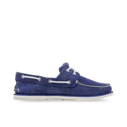 Dark Blue Nubuck - Men's Classic Boat Shoe Footwear Shoes by Timberland