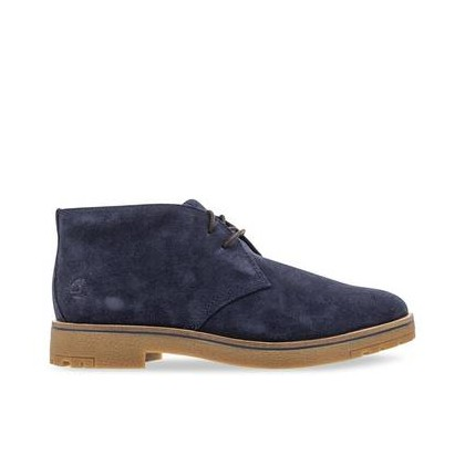 Dark Blue Suede - Men's Folk Gentleman Chukka Footwear Shoes by Timberland