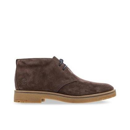 Dark Brown Suede - Men's Folk Gentleman Chukka Footwear Shoes by Timberland