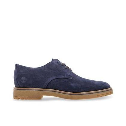 Dark Blue Suede - Men's Folk Gentleman Oxford Footwear Shoes by Timberland