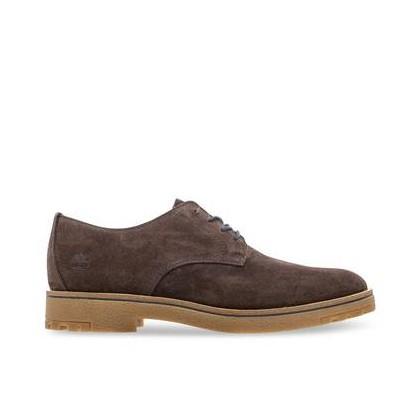 Dark Brown Suede - Men's Folk Gentleman Oxford Footwear Shoes by Timberland
