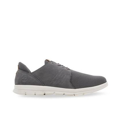Medium Grey Nubuck - Men's Graydon Leather Oxford Footwear Shoes by Timberland