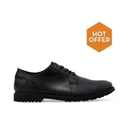 Jet Black Cow Dandy - Men's Lafayette Park Oxford Shoes Mens Shoes by Timberland