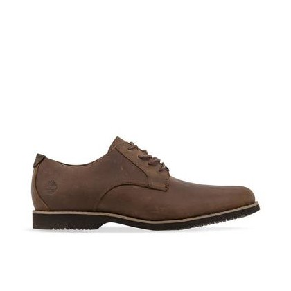 MD Brown Full Grain - Men's Woodhull Leather Oxford Footwear Shoes by Timberland