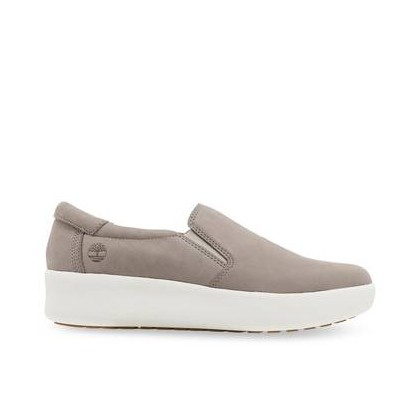 Light Beige Nubuck - Women's Berlin Park Slip On Footwear Shoes by Timberland