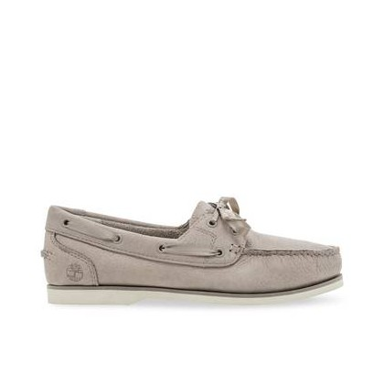 Light Taupe Nubuck - Women's Classic Unlined Boat Shoes Footwear Shoes by Timberland