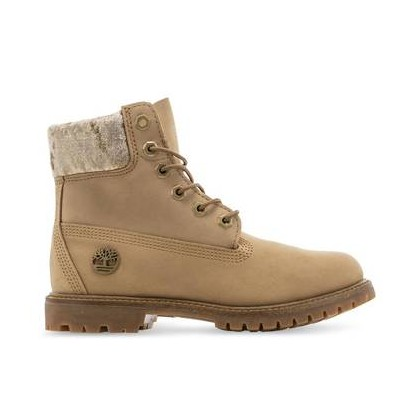 Beige Nubuck Velvet - Women's Leather and Fabric Velvet 6-Inch Boot Https://Www.Timberland.Com.Au/Shop/Sale/Womens/Footwear Shoes by Timberland