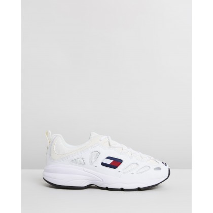 TJ Retro Sneakers - Women's White by Tommy Hilfiger